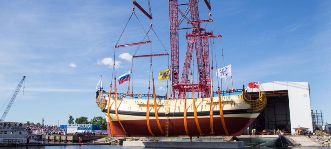 "Корабль-музей ""Полтава"" спущен на воду"