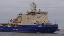 """Ледокол """"Виктор Черномырдин"""" в Финском заливе"""
