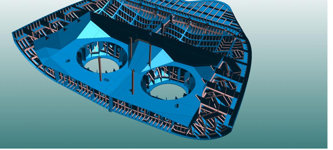 Разработка 3D моделей в САПР TRIBON M3, NUPAS CADMATIC