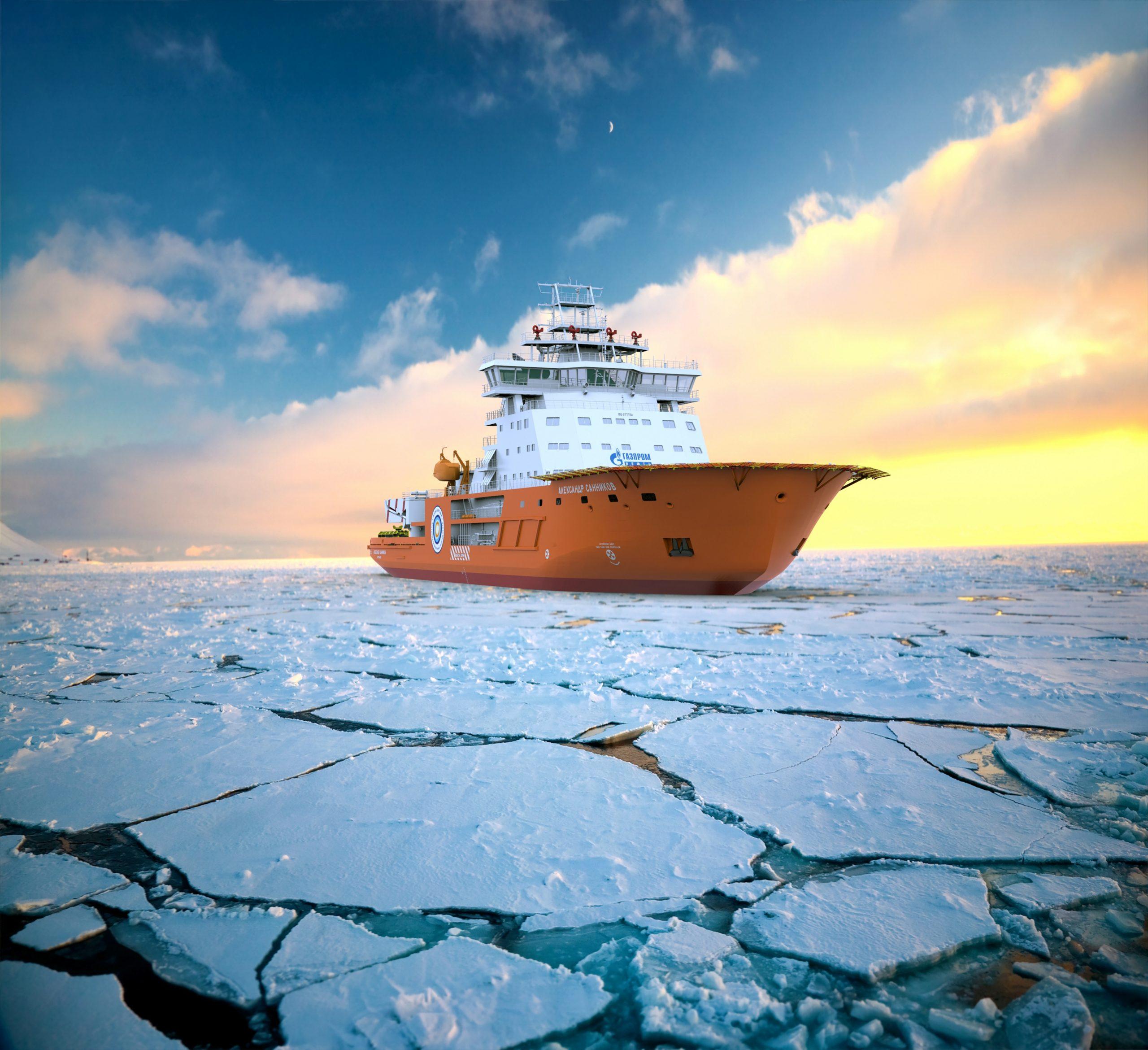 Закладка головного ледокольного судна обеспечения